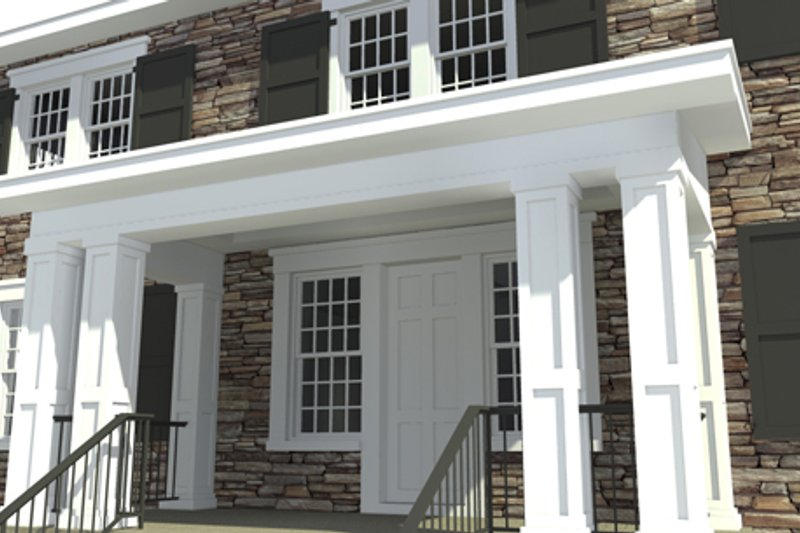 Colonial Exterior - Front Elevation Plan #64-314 - Houseplans.com