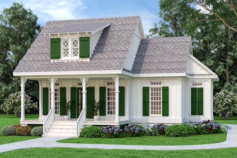 Architectural House Design - Craftsman Exterior - Front Elevation Plan #45-588