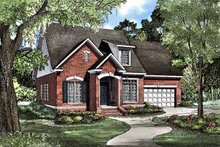 European Exterior - Front Elevation Plan #17-3066