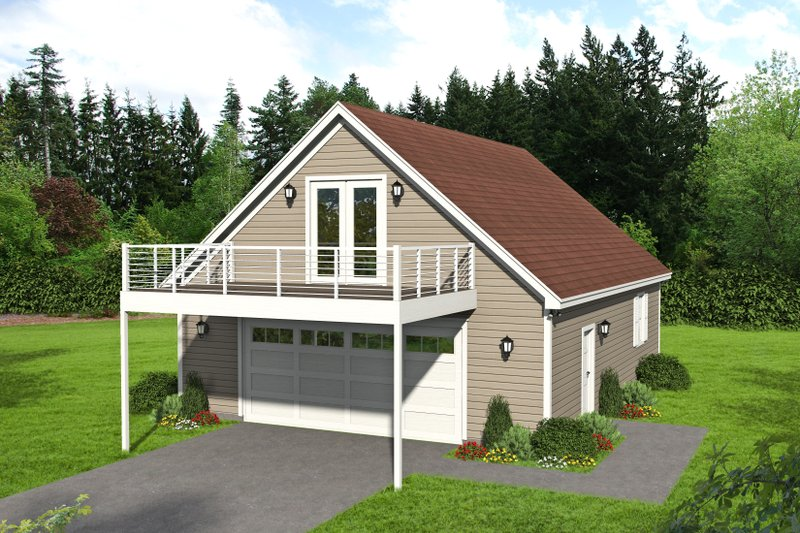 Country Exterior - Front Elevation Plan #932-188