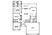 Ranch Floor Plan - Main Floor Plan Plan #1064-4