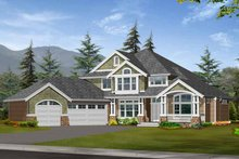 Craftsman Exterior - Front Elevation Plan #132-373