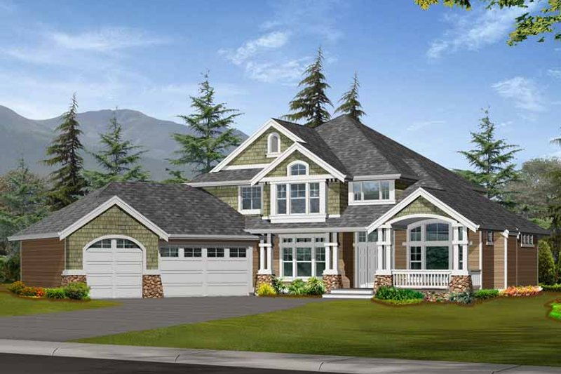 Craftsman Exterior - Front Elevation Plan #132-373 - Houseplans.com