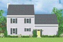 Colonial Exterior - Rear Elevation Plan #72-1087