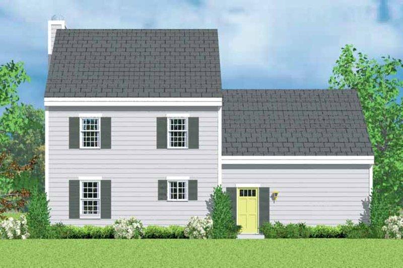 House Blueprint - Colonial Exterior - Rear Elevation Plan #72-1087