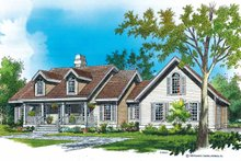 Country Exterior - Front Elevation Plan #929-191