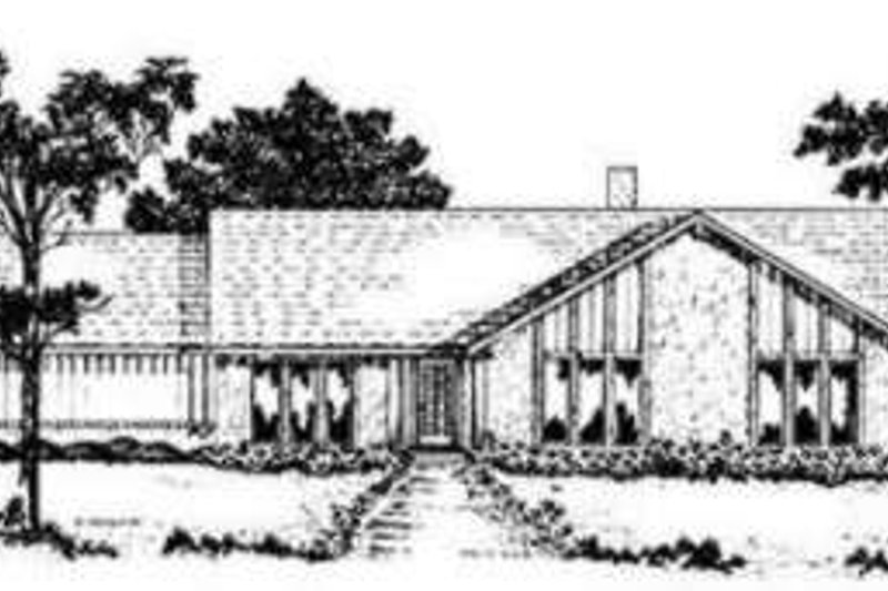 Modern Exterior - Front Elevation Plan #36-416 - Houseplans.com