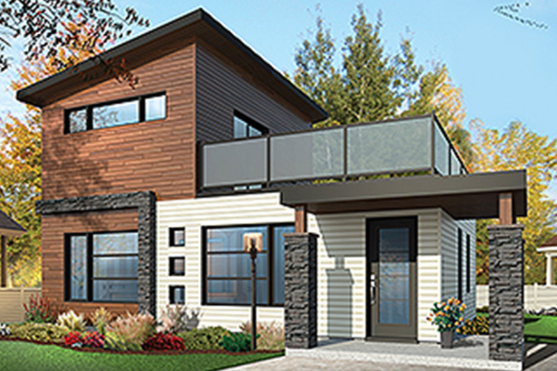 Contemporary Style House Plan 2 Beds 2 Baths 924 Sq Ft