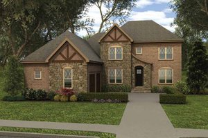 Tudor Exterior - Front Elevation Plan #413-910