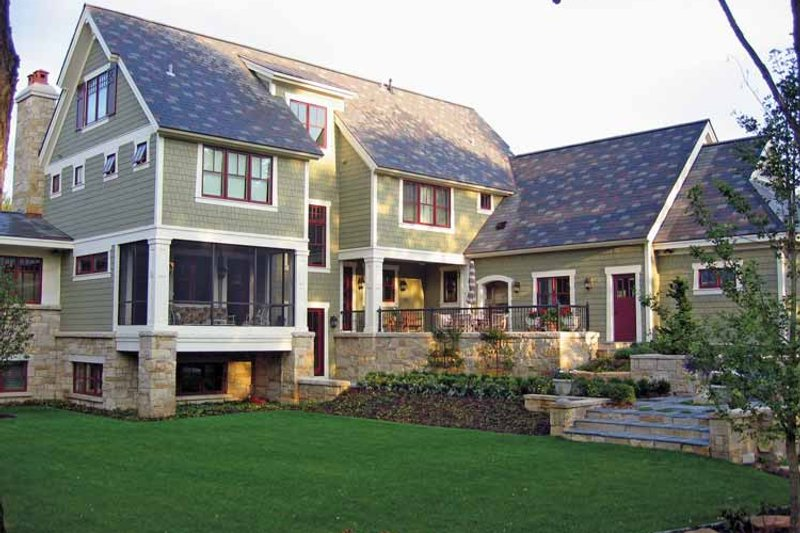 Craftsman Exterior - Rear Elevation Plan #928-19 - Houseplans.com