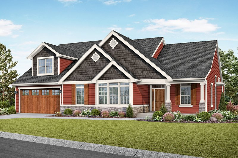 Home Plan - Craftsman Exterior - Front Elevation Plan #48-957