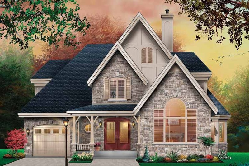 Country Exterior - Front Elevation Plan #23-2416 - Houseplans.com