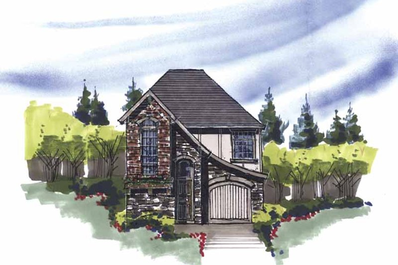 Country Exterior - Front Elevation Plan #509-132