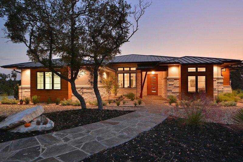 House Plan Design - Contemporary Exterior - Front Elevation Plan #935-18