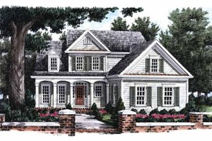 Colonial Exterior - Front Elevation Plan #927-799
