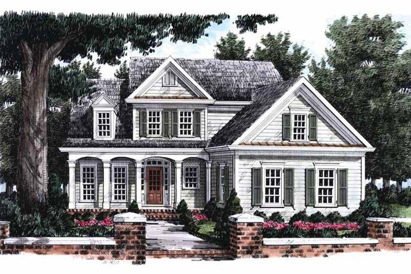Colonial Exterior - Front Elevation Plan #927-799 - Houseplans.com