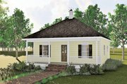 Cottage Style House Plan - 2 Beds 1 Baths 864 Sq/Ft Plan #44-130 Exterior - Front Elevation