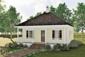 Cottage Exterior - Front Elevation Plan #44-130