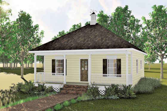 Cottage Exterior - Front Elevation Plan #44-130