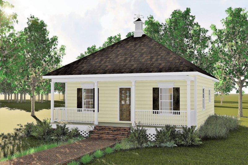 Cottage Exterior - Front Elevation Plan #44-130 - Houseplans.com