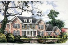 Colonial Exterior - Front Elevation Plan #952-253