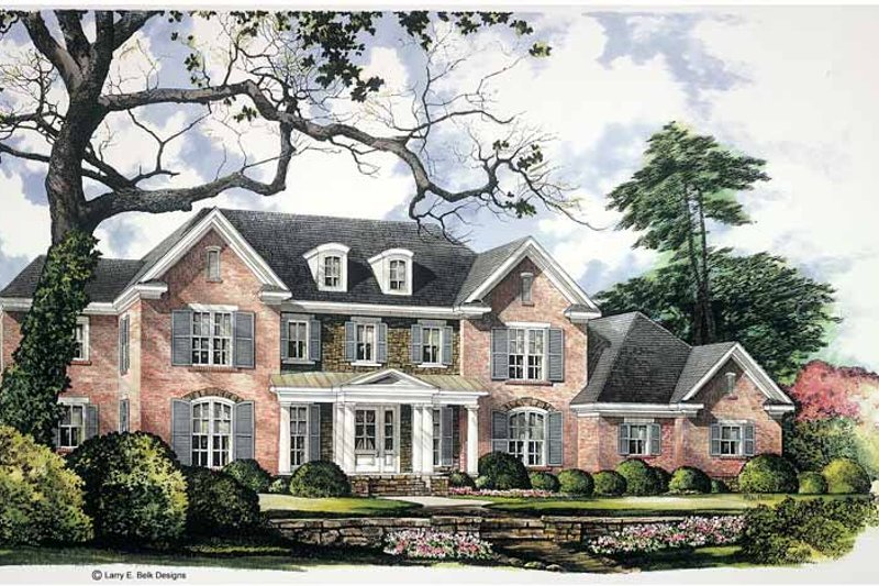 Dream House Plan - Colonial Exterior - Front Elevation Plan #952-253