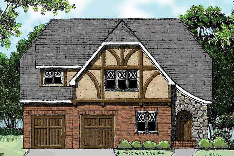 Tudor Exterior - Front Elevation Plan #413-899 - Houseplans.com