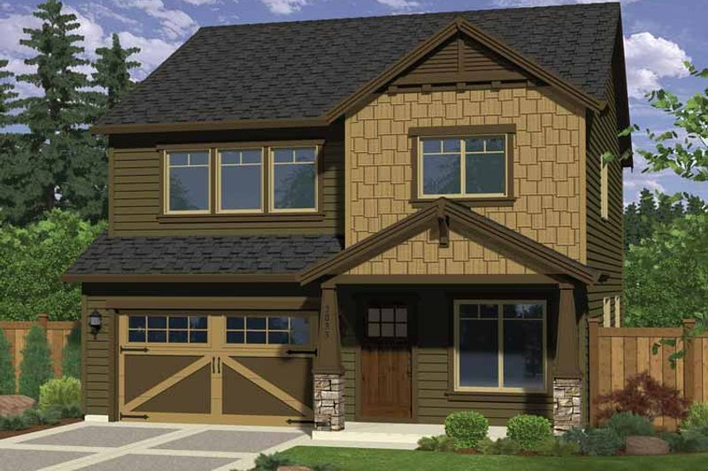 Craftsman Exterior - Front Elevation Plan #943-25 - Houseplans.com