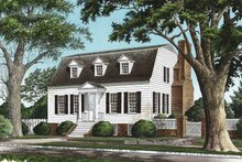 Home Plan - Colonial Exterior - Front Elevation Plan #137-351
