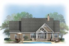 Craftsman Exterior - Rear Elevation Plan #929-875