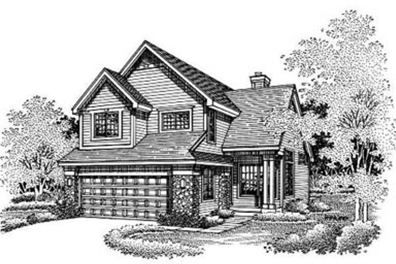 Traditional Exterior - Front Elevation Plan #50-181 - Houseplans.com