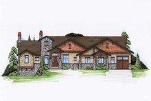 Dream House Plan - Craftsman Exterior - Front Elevation Plan #5-308