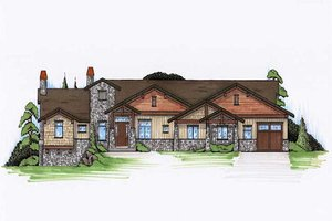 Craftsman Exterior - Front Elevation Plan #5-308