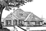 European Style House Plan - 4 Beds 3.5 Baths 2862 Sq/Ft Plan #310-864 Exterior - Front Elevation