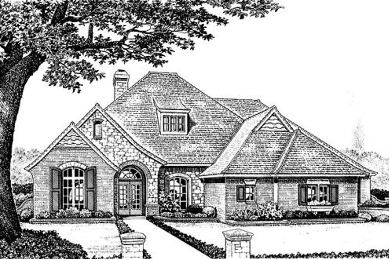 European Exterior - Front Elevation Plan #310-864