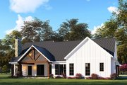 Country Style House Plan - 3 Beds 2.5 Baths 2073 Sq/Ft Plan #923-130 Exterior - Rear Elevation