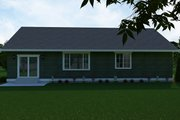 Craftsman Style House Plan - 3 Beds 2 Baths 1669 Sq/Ft Plan #1070-49 Exterior - Rear Elevation