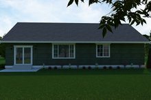 House Plan Design - Craftsman Exterior - Rear Elevation Plan #1070-49
