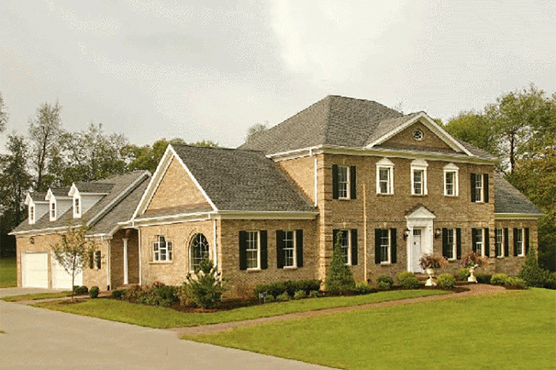 Colonial Exterior - Front Elevation Plan #137-200 - Houseplans.com