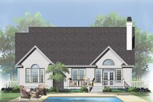House Plan Design - Traditional Exterior - Rear Elevation Plan #929-42