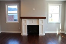 Architectural House Design - Living Room Fireplace