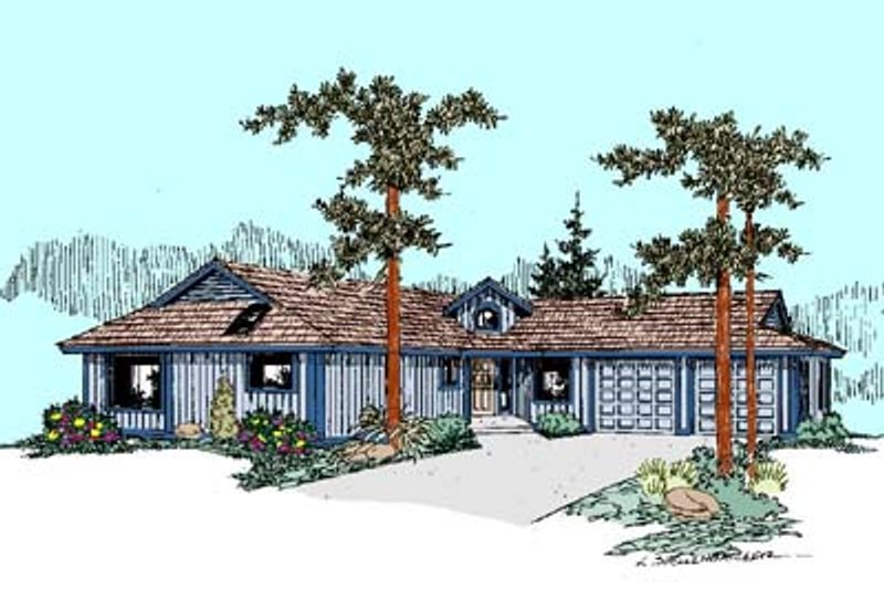 Ranch Exterior - Front Elevation Plan #60-456 - Houseplans.com