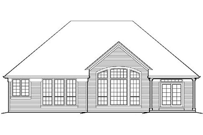 Traditional Exterior - Rear Elevation Plan #48-413 - Houseplans.com