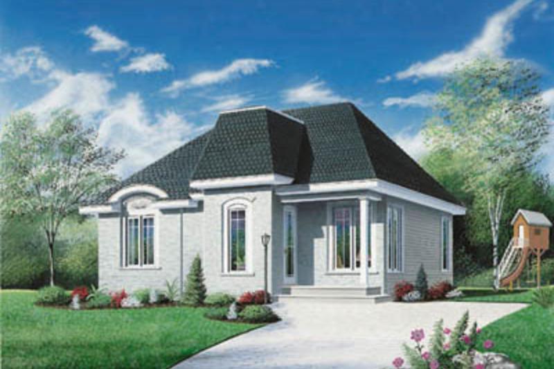 European Exterior - Front Elevation Plan #23-177 - Houseplans.com