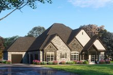 Dream House Plan - European Exterior - Front Elevation Plan #923-95