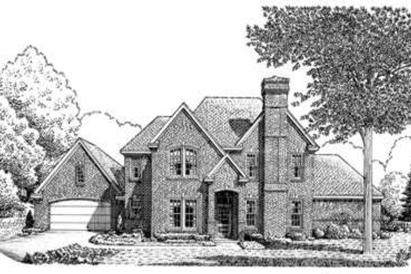 European Exterior - Front Elevation Plan #410-384