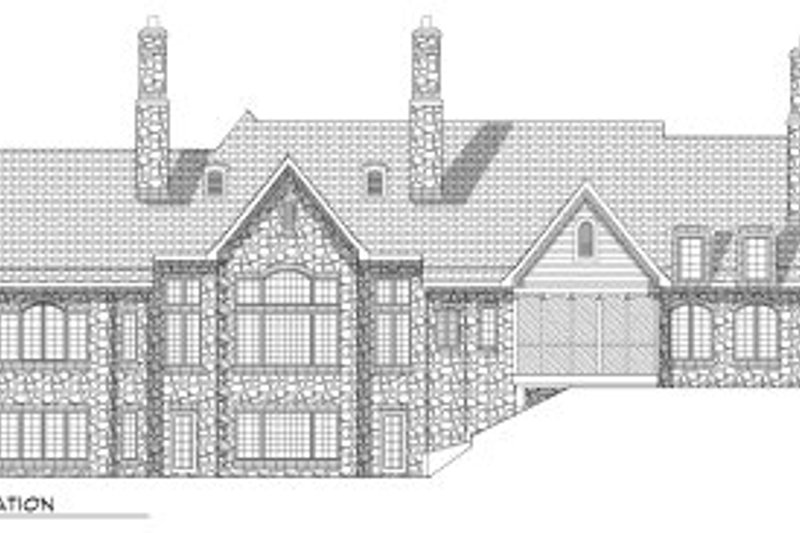 European Exterior - Rear Elevation Plan #70-793 - Houseplans.com