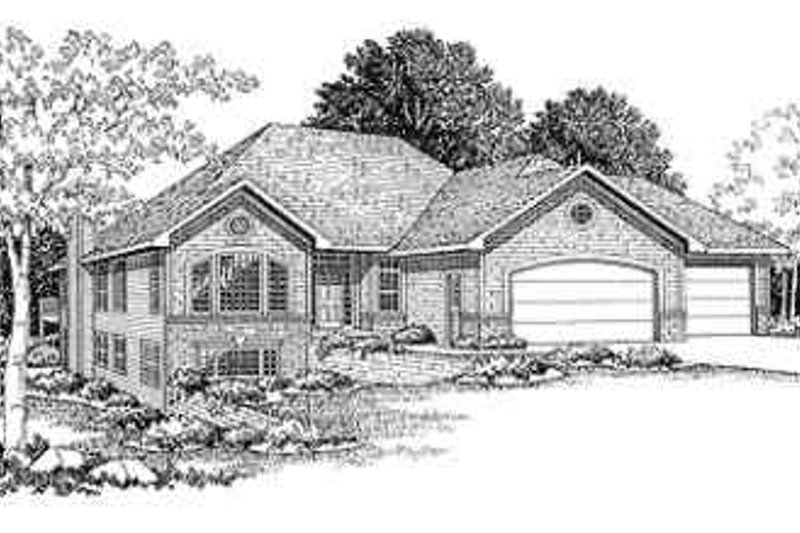 Traditional Style House Plan - 3 Beds 2 Baths 2263 Sq/Ft Plan #70-359 Exterior - Front Elevation