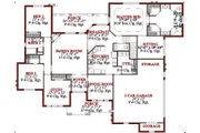 Traditional Style House Plan - 4 Beds 2.5 Baths 2582 Sq/Ft Plan #63-197 Floor Plan - Main Floor Plan