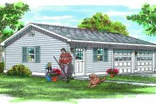 House Plan Design - Traditional Exterior - Front Elevation Plan #47-496